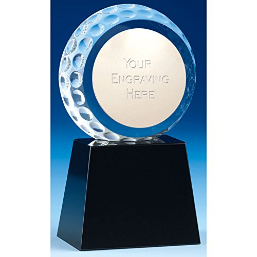 KM012B Golf Atlas Golfball Crystal Award, 11,5 cm, in Geschenkbox mit kostenloser Gravur bis zu 50 Buchstaben Crystal Atlas