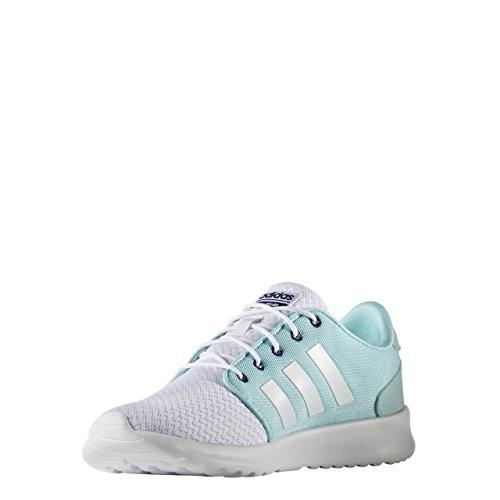 adidas Cloudfoam Qt Racer W, Sneaker Bas du Cou Femme Blanc Cassé (Ftwbla/ftwbla/tinuni)