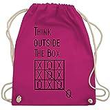 Statement Shirts - Think outside the box - Unisize - Fuchsia - WM110 - Turnbeutel & Gym Bag