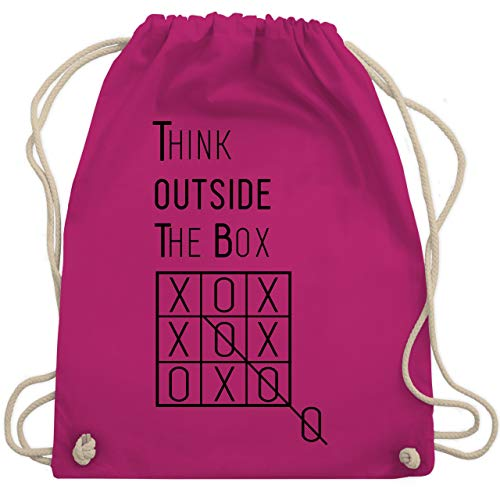Statement Shirts - Think outside the box - Unisize - Fuchsia - WM110 - Turnbeutel & Gym Bag