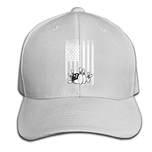 WefyL Retro Bowling Flag Snapback Sandwich Cap Black Baseball Cap Hats Adjustable Peaked Trucker Cap -