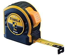 Stabila MPBM40 BM 40 Mètre-ruban de poche, Noir/jaune, 5 m