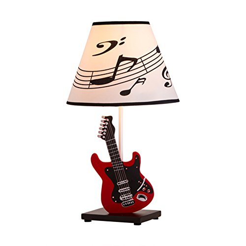 Wcui guitar table lamp children bedroom bedside lamp dimmable dance wcui guitar table lamp children bedroom bedside lamp dimmable dance hall lamp child birthday gift e27 dimmer switch select color red buy online in aloadofball Images