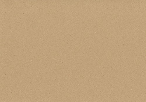 Formato A4, 210 mm x 297 mm Craft Creations Eco Naturale cartoncino Kraft marrone punteggiato, 100% carta riciclata, 280 g/mq 435 microfono leggermente ruvida cartoncino, marrone, A4 210 mm x 297 mm