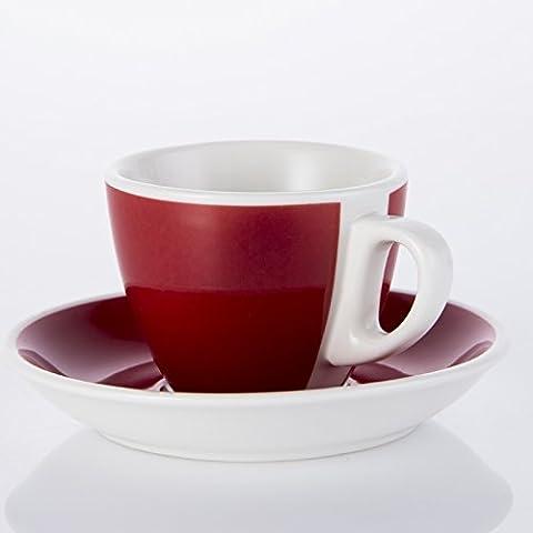 cappuccino crème tasse ceramic tasse,red 90 ml.