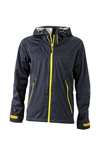 JAMES & NICHOLSON Ultraleichte Softshell-Jacke für extreme Wetterbedingungen iron-grey/yellow