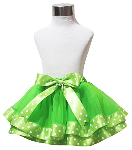 ST PATRICK Tag Kleid Grün Lagen Polka Dots Band Blütenblatt Rock Mädchen Tuch nb-8y Gr. 3-12 Monate, (Patrick St Tag Kleider)