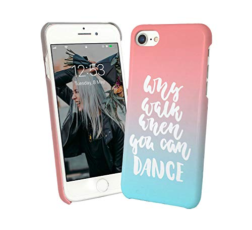 LumaCases Why Walk When You Can Dance Music Free Passion_BLC Case for Compatible with iPhone XR Handyhulle Hülle SchutzCover Bumper Shell Protective Protection