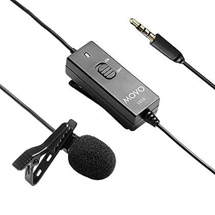 Movo LV10 Micrófono TRRS de Solapa Corbata Cond...