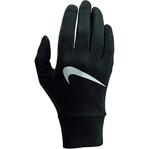 Nike Womens Lightweight Tech Running Gloves 082 - Guantes para Mujer, Todo el año, Mujer, Color Negro/Plateado, tamaño Medium