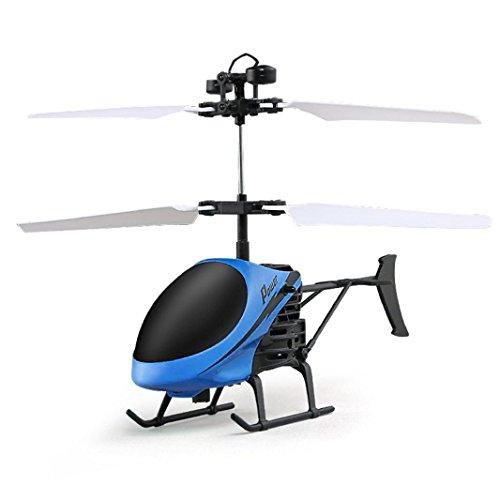 RC Helikopter, iHee 2017 Nue RC Infrarot Induktion Hubschrauber Flugzeug Fernbedienung Blinklicht Spielzeug Für Kinder und Erwachsene (Blau)