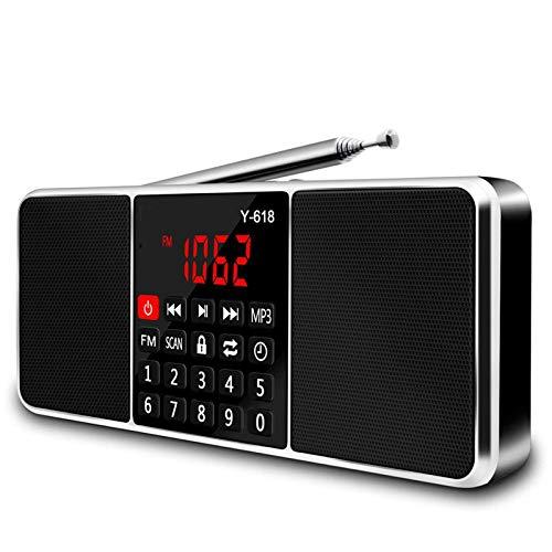 ZTT AM FM Tragbares Radio, Fernhand Rundfunk und Fernsehen Lautsprecher Kompatibel mit USB-Gerät mit LED-Anzeige und Funk Timer