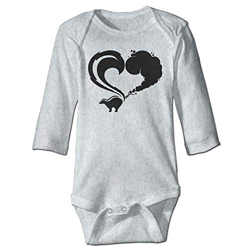 Unisex Newborn Bodysuits Skunk Logo Girls Babysuit Long Sleeve Jumpsuit Sunsuit Outfit Ash