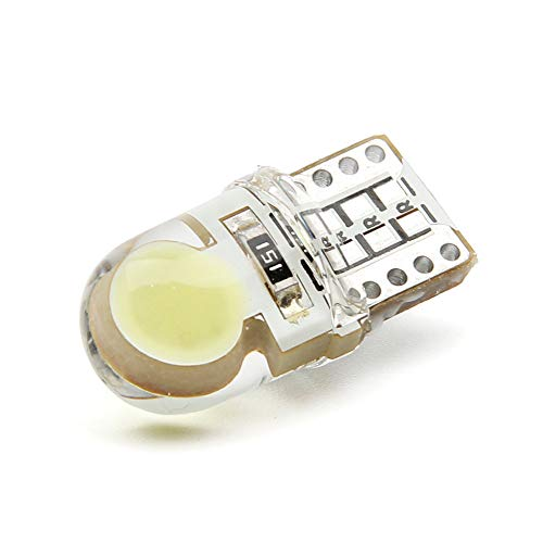 T10 194 168 W5W Cob 8 Smd Led Canbus Lampadina In Silicone Bianco