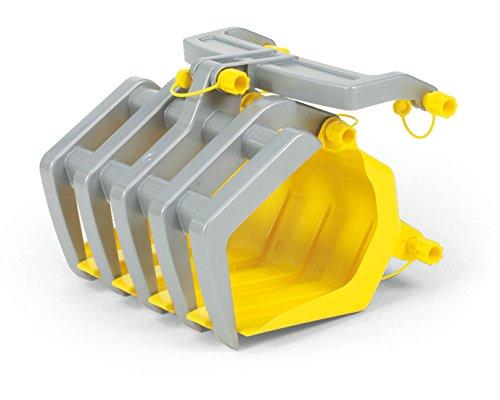 Rolly Toys Zubehör Rolly Toys 409679 rollyTimber Loader | Holzgreifer Anbausatz für Traktoren mit rollyTrac Lader | ab 3 Jahren | Farbe grau/gelb