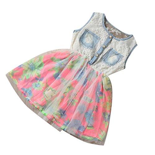 bebe-vestidos-switchali-nino-ninos-chicas-casual-cordon-vestir-mezclilla-splice-floral-tul-de-capas-