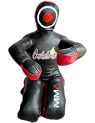 """Celebrita MMA Judo Bolsa de boxeo Grappling Dummy - la posición sentada manos delanteras MMA382 Leather - Black 59"""" Up to 45kg/99 lb"""