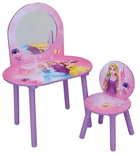 *FUN HOUSE Disney Princesses Coiffeuse avec Chaise pour Enfant, MDF, 60 x 40 x 84 cm Meilleure offre de prix