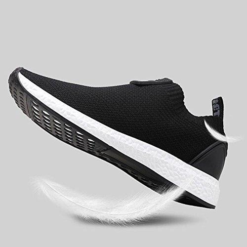 YIXINY Scarpe sportive Scarpe Da Uomo Scarpe Nette Sport Allaria Aperta Jogging Tempo Libero Traspirante Deodorante ( Colore : Nero , dimensioni : EU41/UK7.5-8/CN42 ) Nero