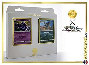 Grotadmorv (Muk) 63/181 Y Pandarbare (Pangoro) 94/181 - #tooboost X Soleil & Lune 9 Duo de Choc - Box de 10 Cartas Pokémon Francés + 1 Goodie Pokémon
