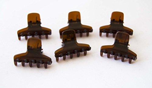 Pack von 6Kleine Pinzette 3cm Schildpatt Farbe. Gratis Versand 72H