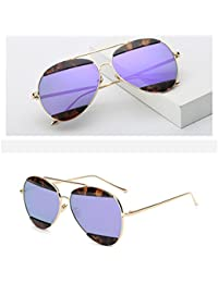 ZHANG Lunettes de soleil mode coloré lunettes de soleil en métal unisexe lunettes de sourcils, 5