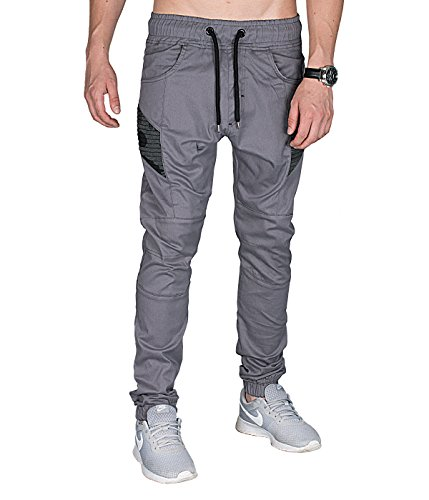 BetterStylz -  Pantaloni  - Uomo Grau L