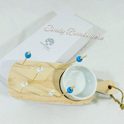Gastgeschenk für Hochzeit Jahrestag-Scivaro + Zahnstocher-Olive Bomboniera con scatola no confezione