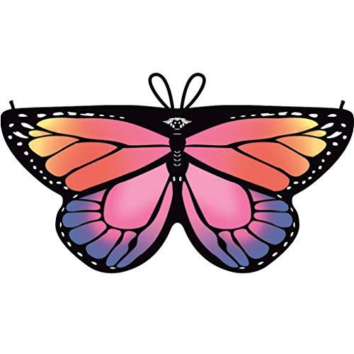 Dragon868 Heißer Cosplay Party Schmetterlings flügel Schal Schals Nymphe Pixie Poncho Karneval Kostüm Zubehör Kind Kinder Jungen Mädchen böhmischen Print 118*47cm - Karneval Kostüm Selbstgemacht