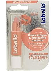 Labello Crayon Lipstick Matitone Labbra Colora e Idrata, senza Oli Minerali e Parabeni, Nude