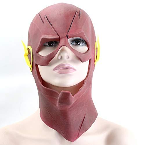 WANG XIN Red The Flash Flash Maske COS Film Anime Helm Weihnachten Halloween Head Set Requisiten