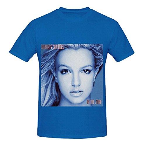 Britney Spears In The Zone R&B Album Cover Herren Crew Neck Digital Printed Shirts Medium