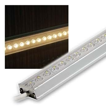 alu led lichtleiste warm wei 25cm 12v dc design amazon. Black Bedroom Furniture Sets. Home Design Ideas