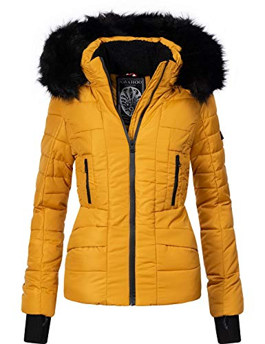 Navahoo Damen Winter Jacke Steppjacke Adele Gelb Gr. XS
