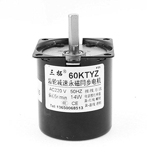 sourcingmap® AC 220 V 5 U/min Permanentmagnet Reversible Getriebemotor Geschwindigkeit rotucer Exzenterwelle (Geschwindigkeit-kondensator-motor 1)