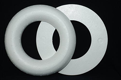 STYROPOR- HALB- RING, 40 cm, RÖMER Vollmaterial / 1 Stück