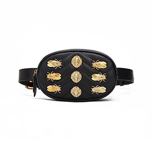 FXTKU 2018 Damen Geldb�rse Mini Handy Tasche Stern mit dem gleichen Absatz samt Brustbeutel samt ovalen Taschen umh�ngetasche damen klein handtasche(Schwarz 4)