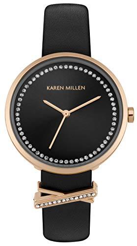 Karen Millen Unisex-Adult Analogue Classic Quartz Watch with Leather Strap KM174B
