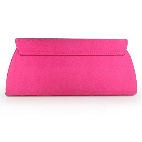 Frizione Della Donna Semplice Disegno Di Modo Di Rettangolo Sacchetti Di Frizione Delle Donne Del Cuoio Di Figura Pink