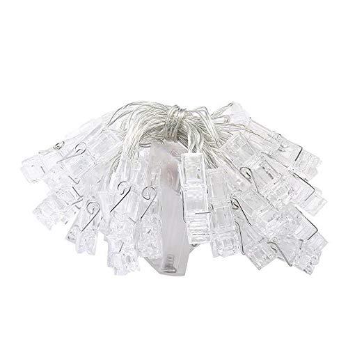 sakj-d Foto Wand Lampe String LED Farbige Lampe String Foto Clip Lampe Laterne Dekorative Lampe Weihnachten, 10 Meter Weiß Plug-In