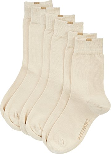 Nur Die Damen Socken 487819/Damen Passt Perfekt Socken 3er, Gr. 35-38, Beige (beige 355) -