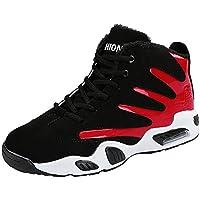 ☺HWTOP Herren Sneakers Sportschuhe Laufschuhe Plateauschuhe Turnschuhe Fashion Männer Schnürstiefel Schuhe Baumwolle Schuhe Schuhe Trainer Outdoor Freizeitschuhe Fitnessschuhe mit Klettverschluss