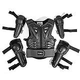Armadura Protectora para Motocicleta para niños de 5 a 13 años de Edad para Motocross, Ciclismo, esquí, Patinaje, Patinaje, Negro