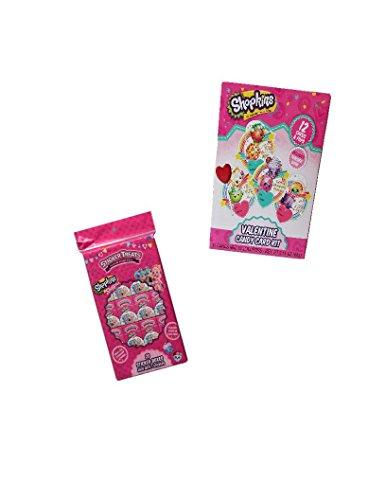 Unbekannt Shopkins Valentinstag Karten und Mini Pops Herz Pops mit Shopkins shoppies Aufkleber behandelt Bundle Set