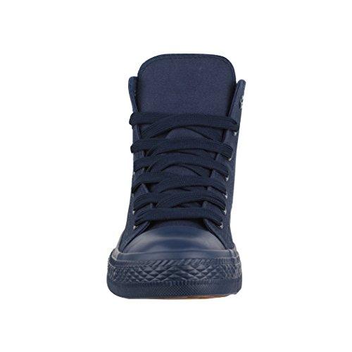 Elara Unisex Sneaker | Sport Scarpe Per Uomo Donna | High Top Sneakers Tessile Scarpe 36–47 All Blau