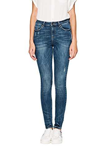 ESPRIT Damen 097EE1B008 Skinny Jeans, Blau (Blue Medium Wash 902), W28/L32