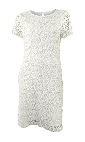 marks-spencer-cream-crochet-effect-60s-style-shift-dress-with-short-sleeves-size-8
