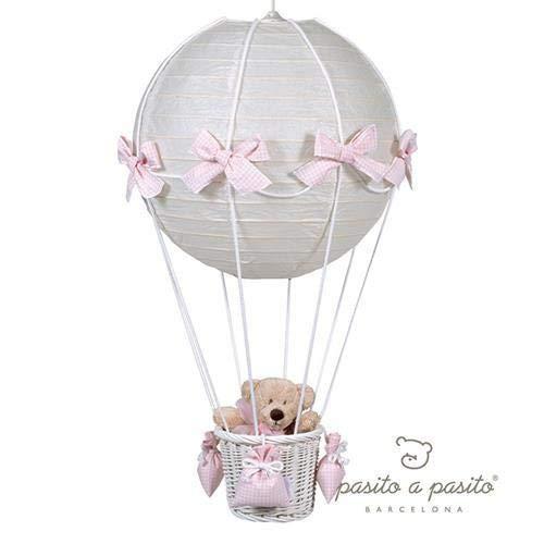 Pasito A Pasito Globo Vichy Lampe montgolfière Rose