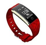 Fitness Tracker HR, IP67wasserabweisend Tragbarer Activity Tracker Sport Armband Kalorien Fahrrad Call/SMS WHATSAPP Facebook Reminder Vibration für iphonex 8Plus Samsung S8+ Android oder iOS