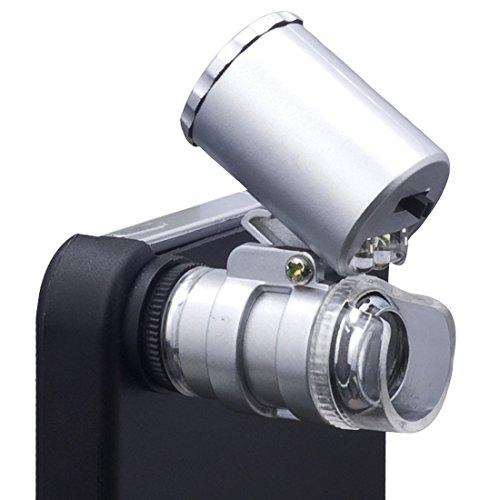 60-fach Zoom LED Handy Mikroskop Mikro Objektiv für iPhone 4S 4G DC77